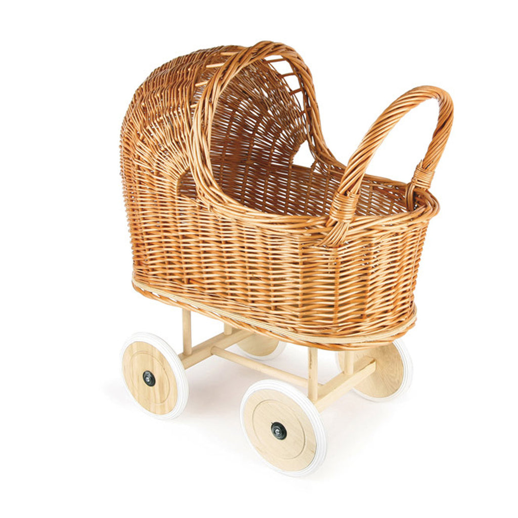 Egmont Wicker Pram with Bedding