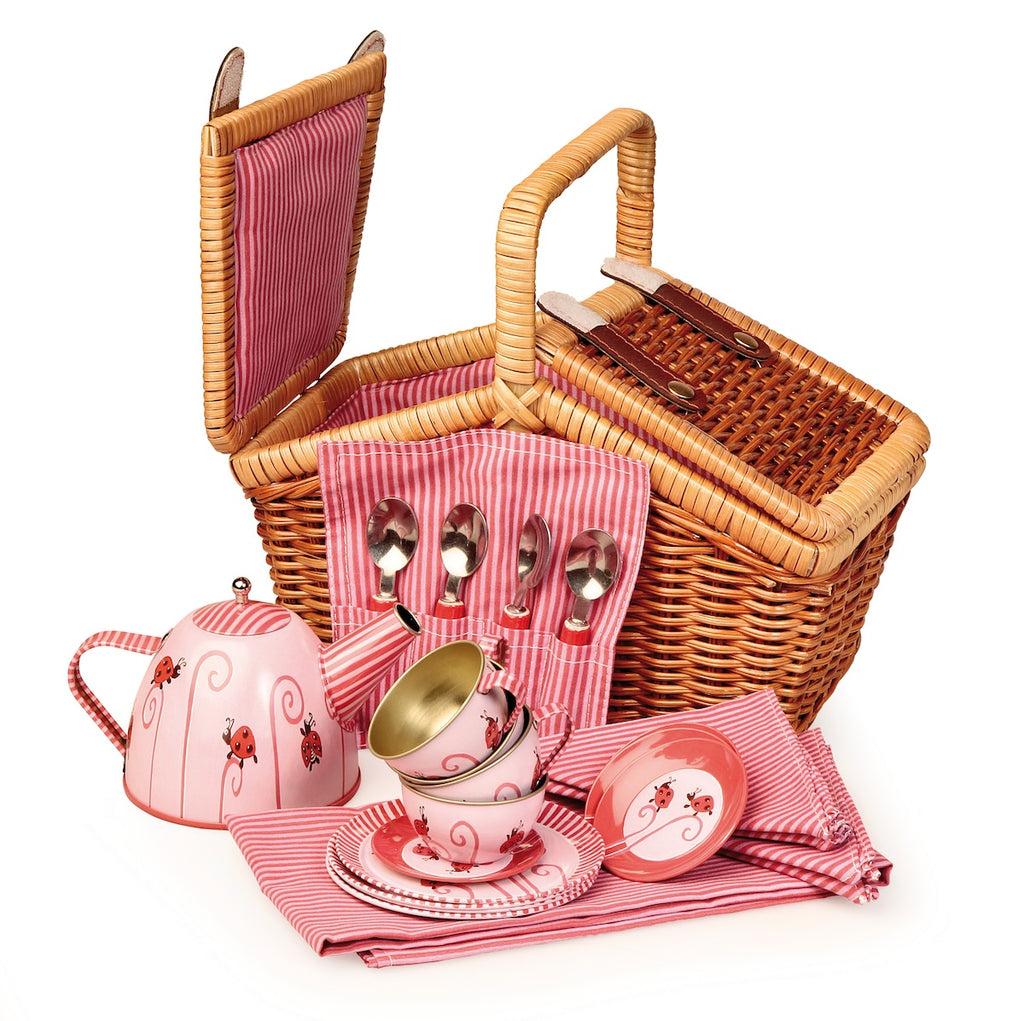 Egmont Tin Tea Set Ladybird in a Basket