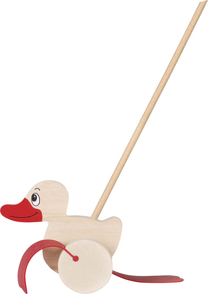 Goki Wooden Push Along Duck