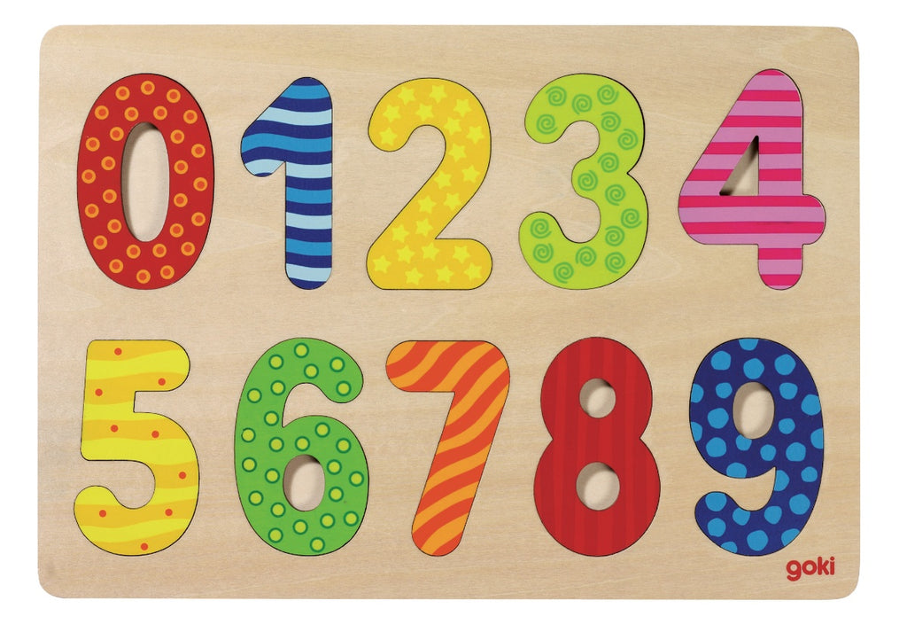 Goki Wooden Number Puzzle