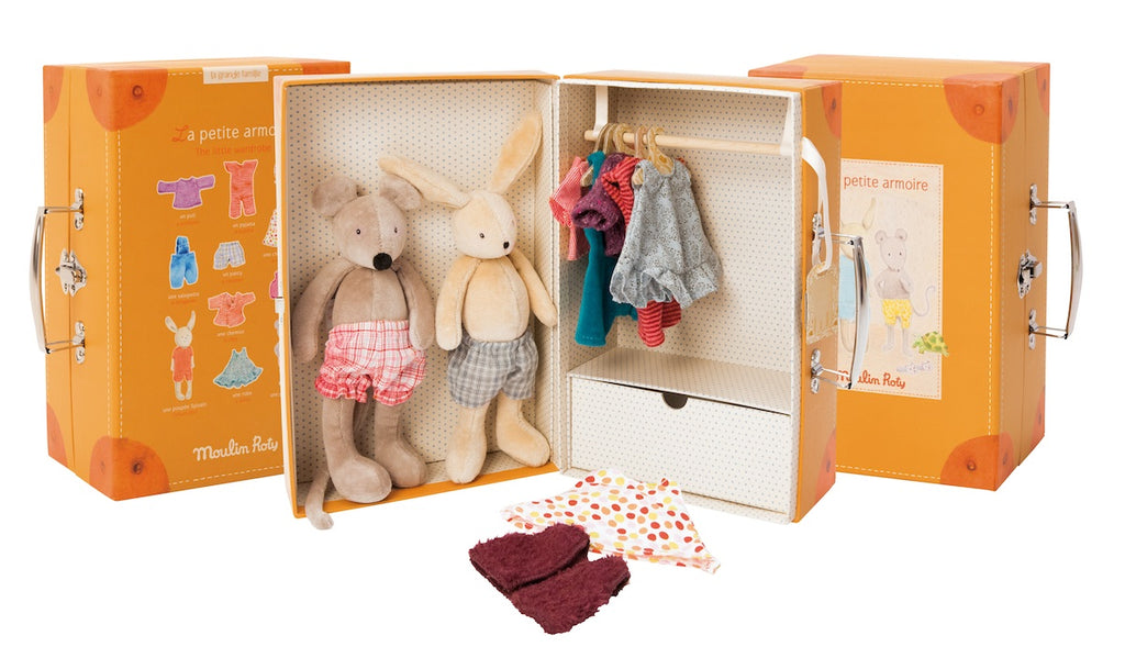 Moulin Roty La Grande Famille - Little Wardrobe Suitcase