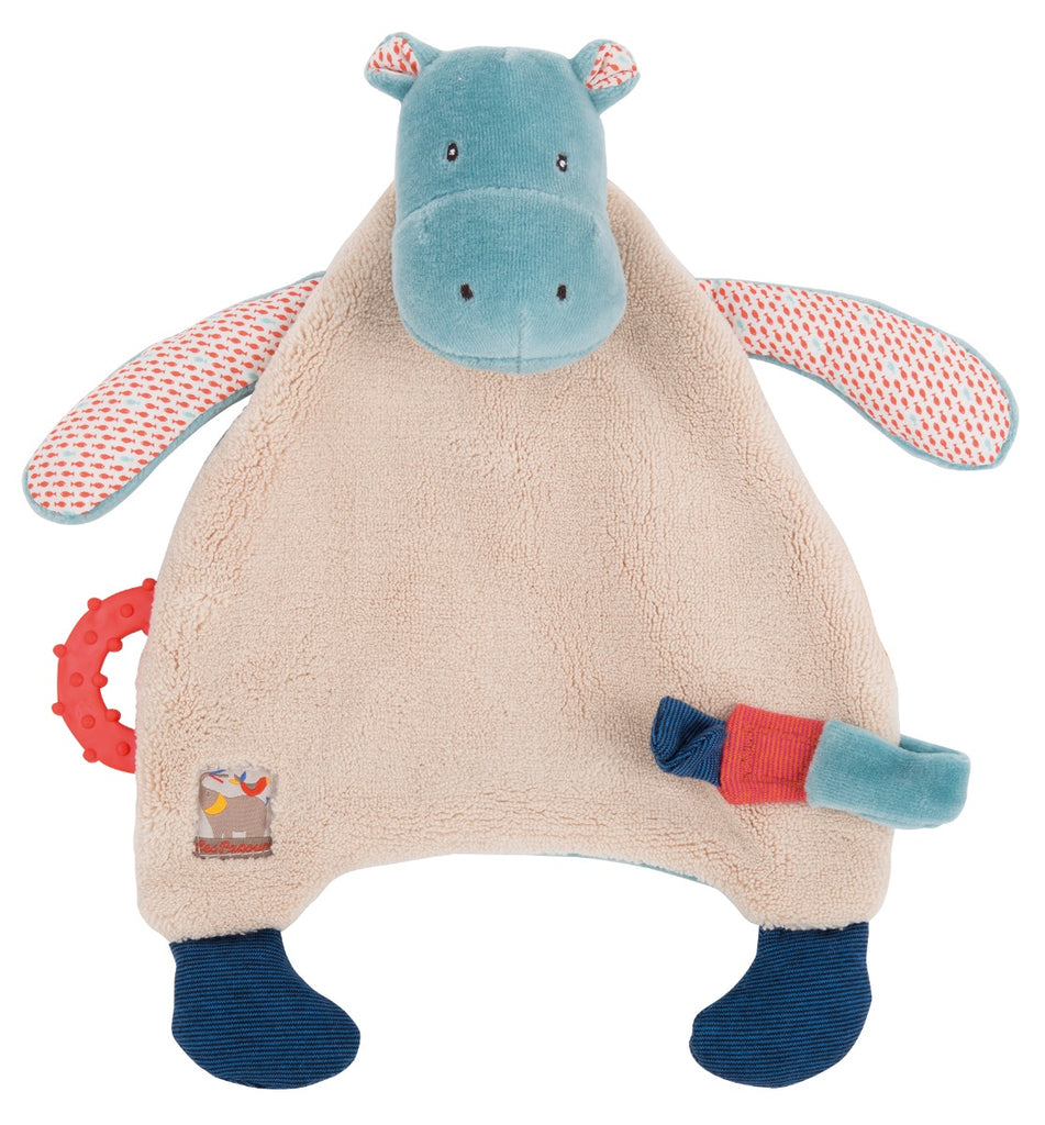 Moulin Roty Les Papoum Hippo Pacifier Comforter