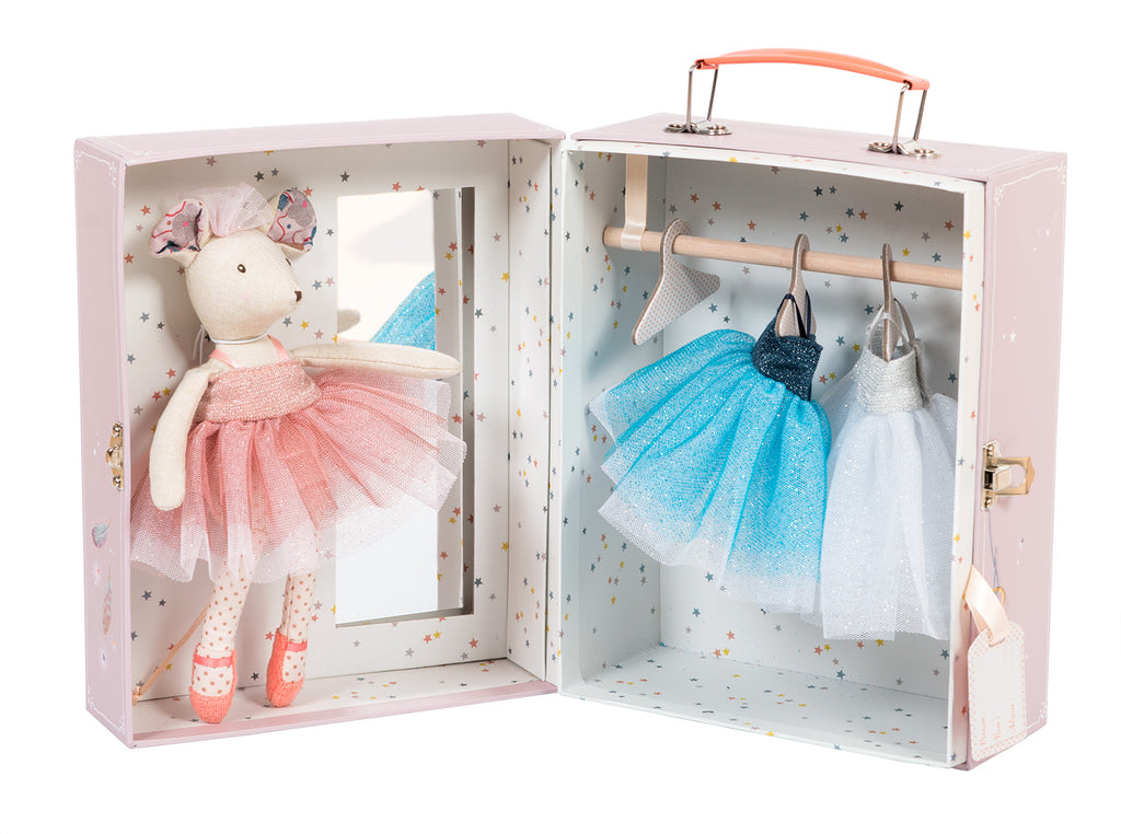 Moulin Roty Once Upon A Time - Ballerina Mouse in a Suitcase