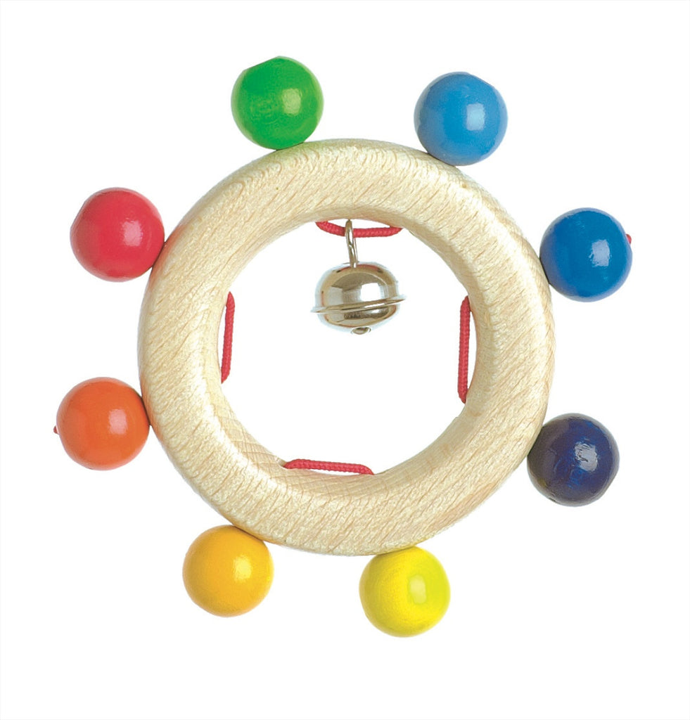 Heimess Wooden Rattle Rainbow Pearls