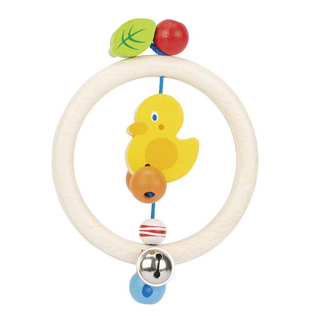 Heimess Wooden Ring Rattle Duck