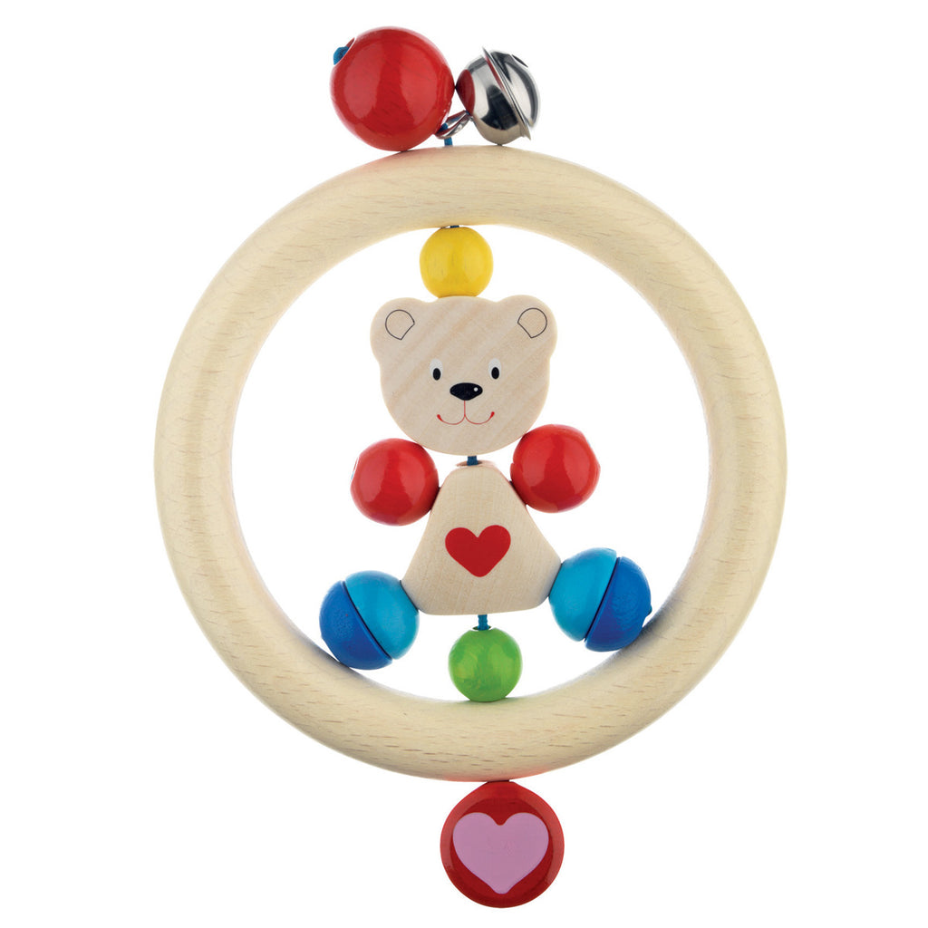 Heimess Wooden Ring Rattle Bear