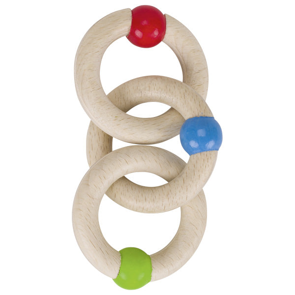 Heimess Wooden Rattle 3 Rings