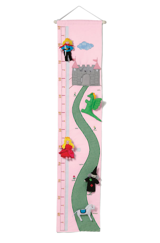 Oskar & Ellen Princess Height Chart - pink