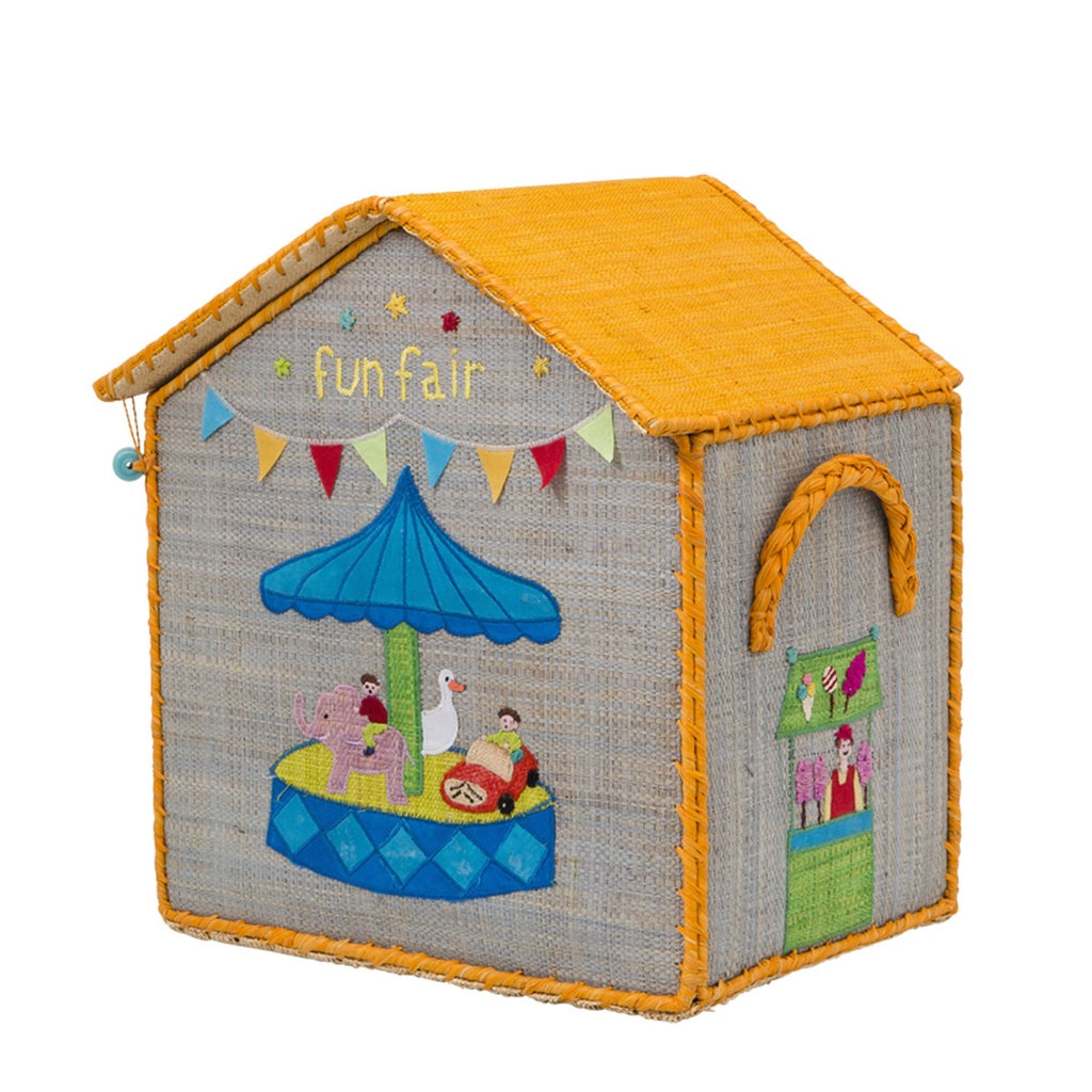 Rice DK Small House Toy Basket - Fun Fair