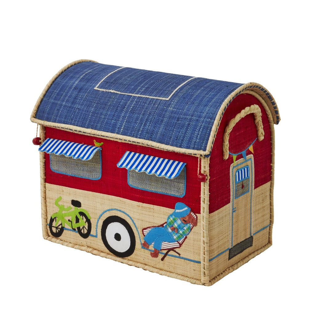 Rice DK House Toy Basket 'Happy Camper' - small