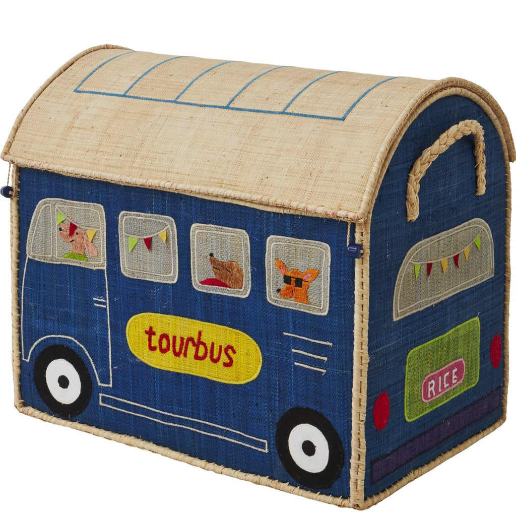 Rice DK House Toy Basket 'Happy Camper' - large
