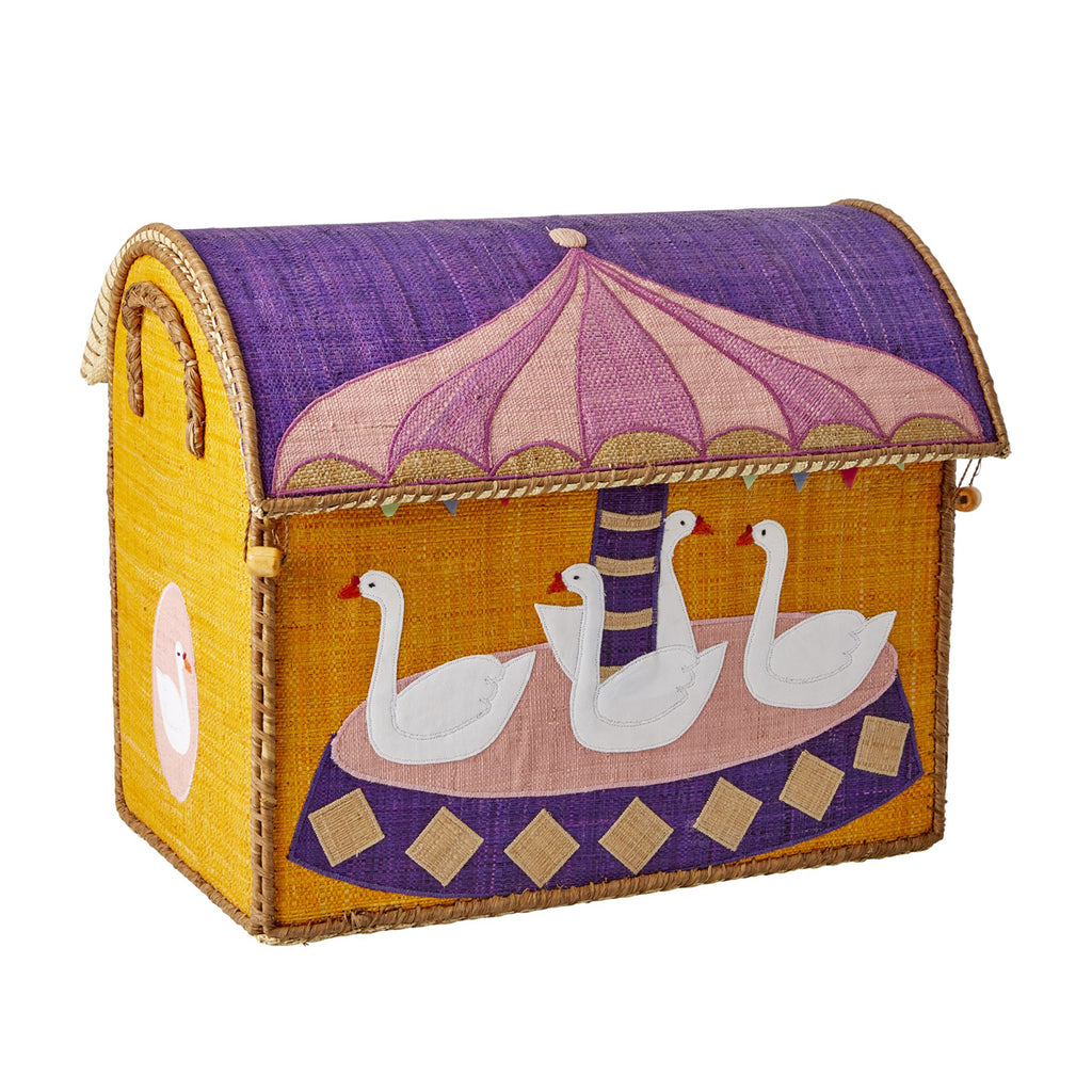 Rice DK Toy Basket with Carousel Theme - medium