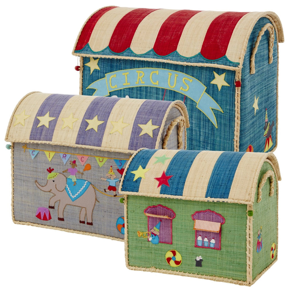 Rice DK House Toy Baskets Circus - Set of 3