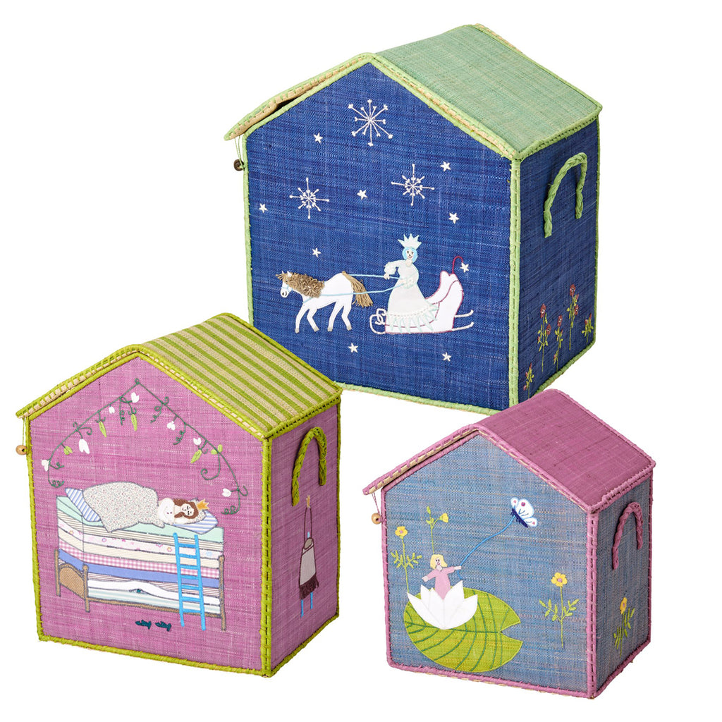Rice DK Raffia Toy Baskets 'Fairytale' - Set of 3