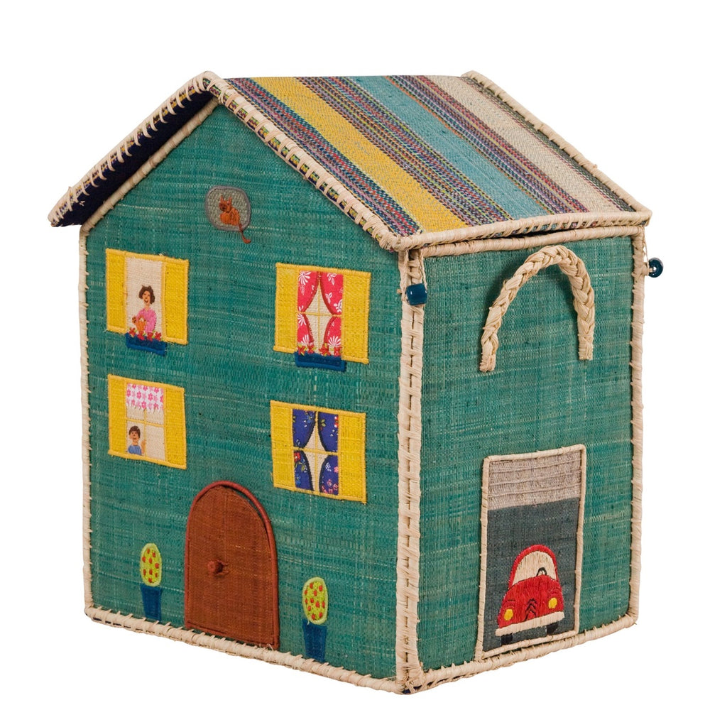 Rice DK House Toy Basket 'Highrise City' - medium
