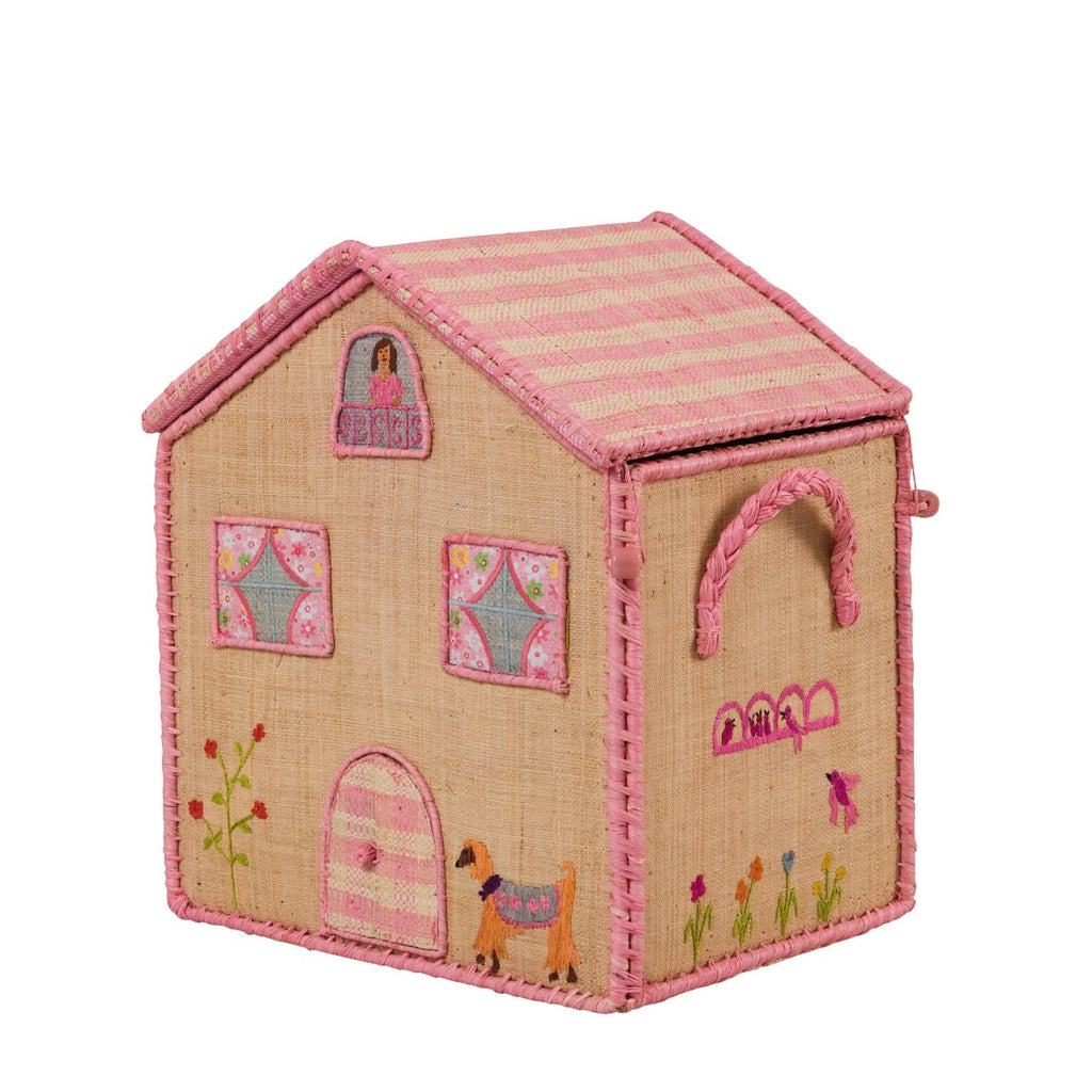 Rice DK House Toy Basket 'Highrise City' - small