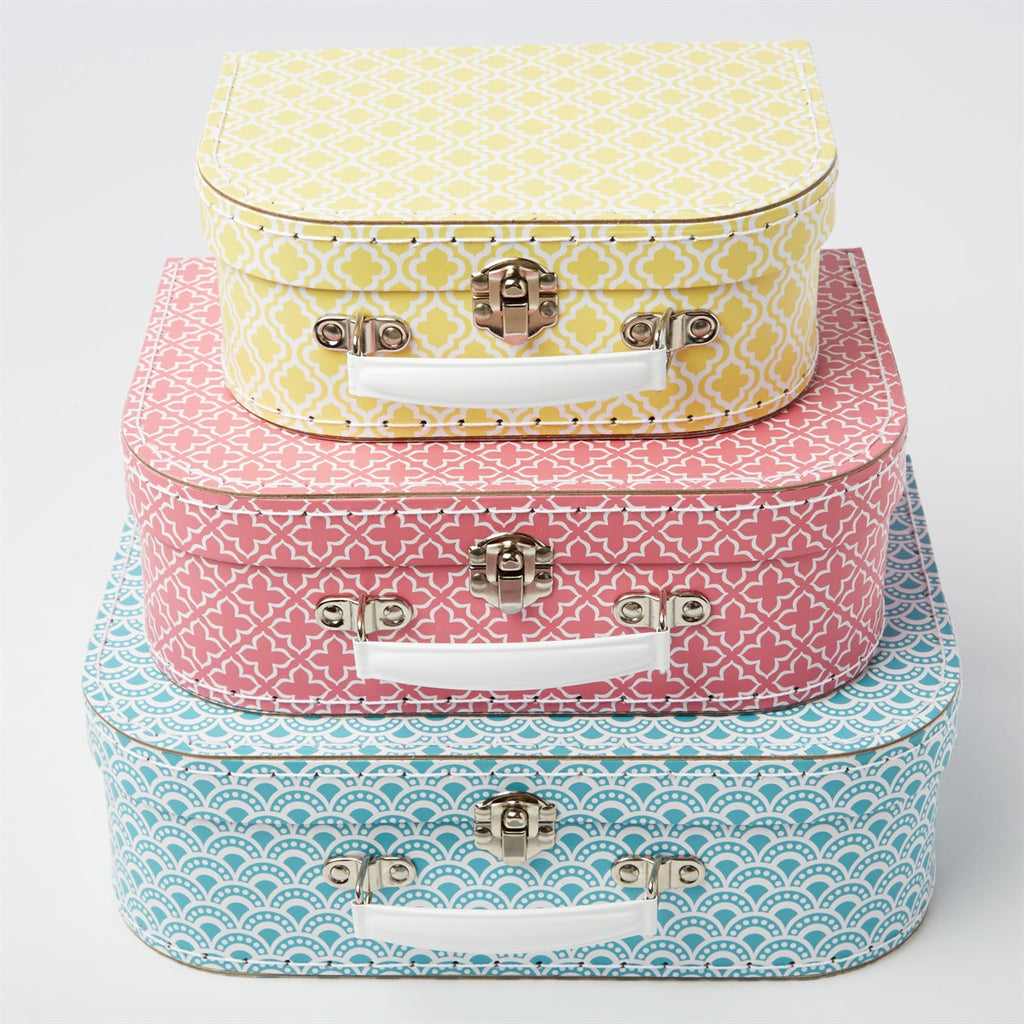 Sass & Belle Morrocan Geometrics Suitcases - Set of 3