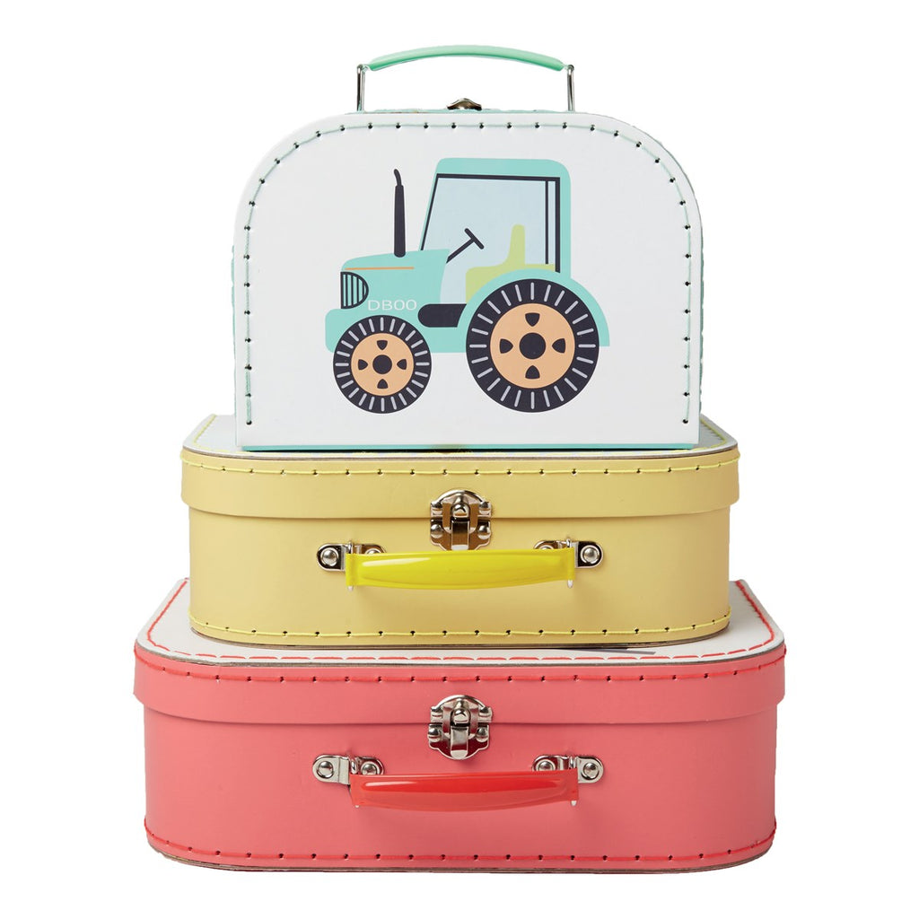 Sass & Belle Vehicles Suitcases - Set of 3