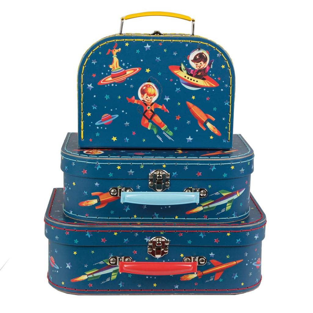 Sass & Belle Retro Space Suitcases - Set of 3