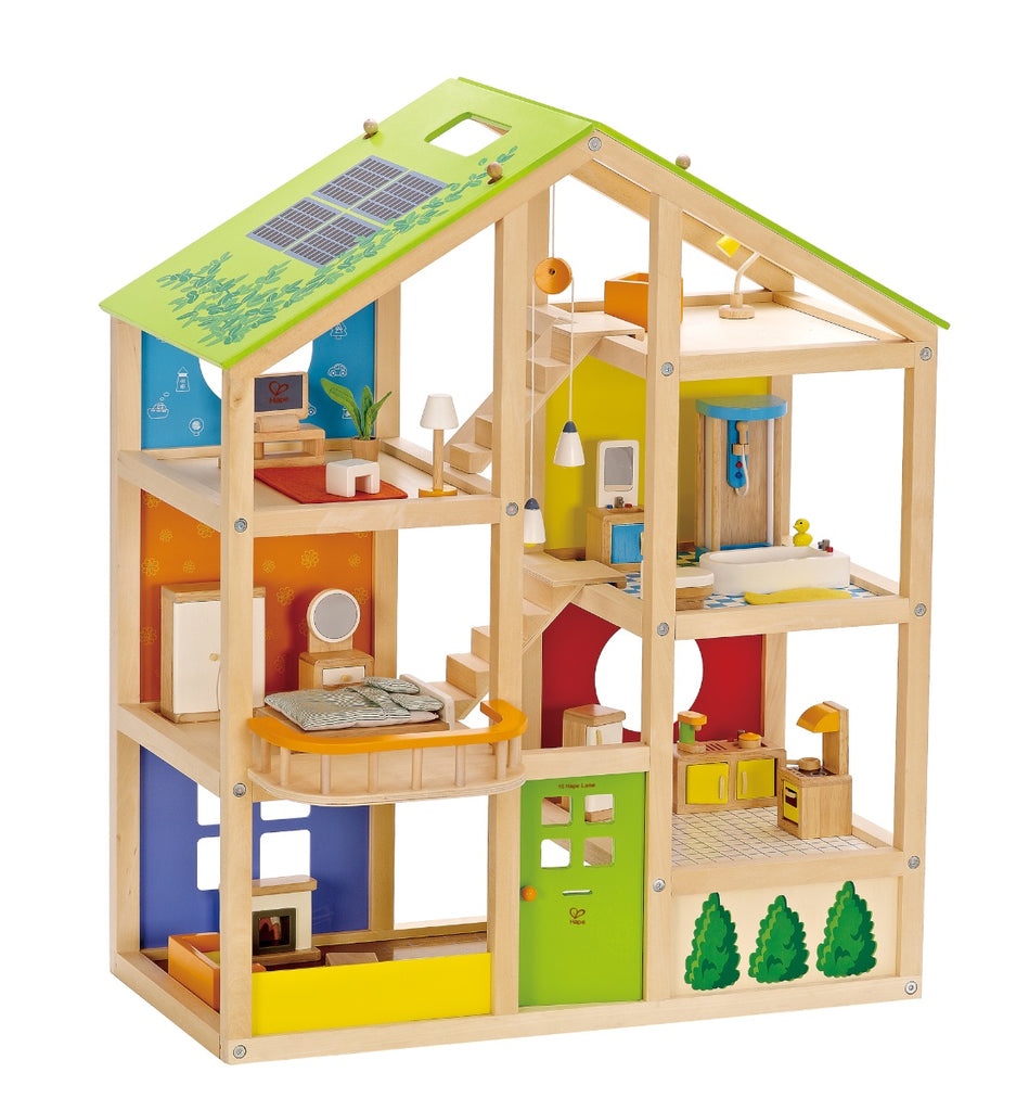 Hape All Season Dolls House (furnished)