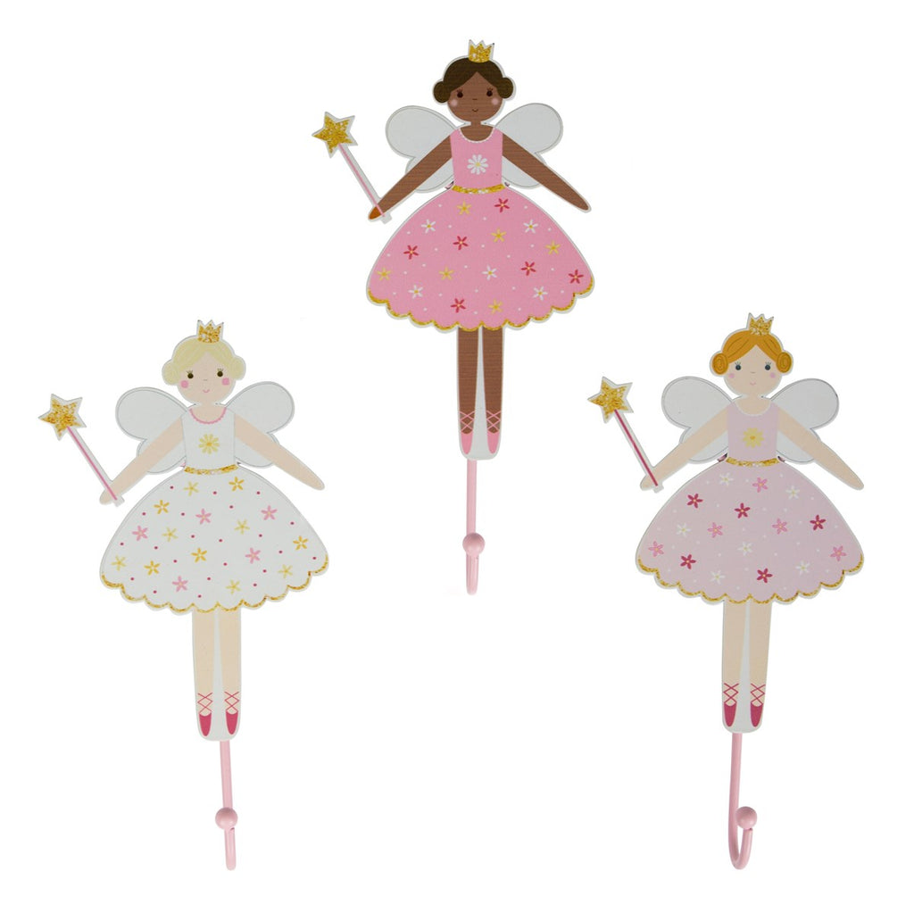 Sass & Belle Fairy Wall Hook - Soft Pink