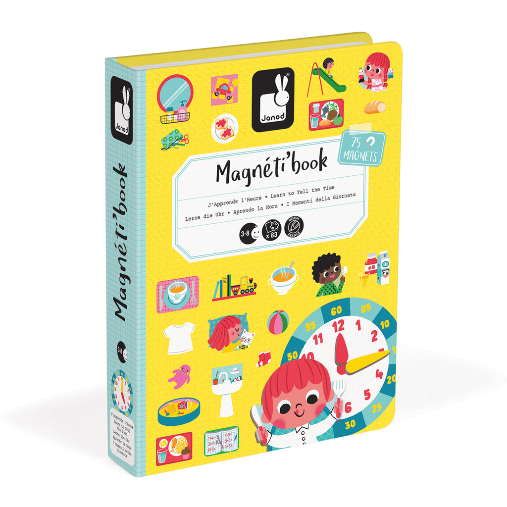 Janod Magnetic Book Tell the Time