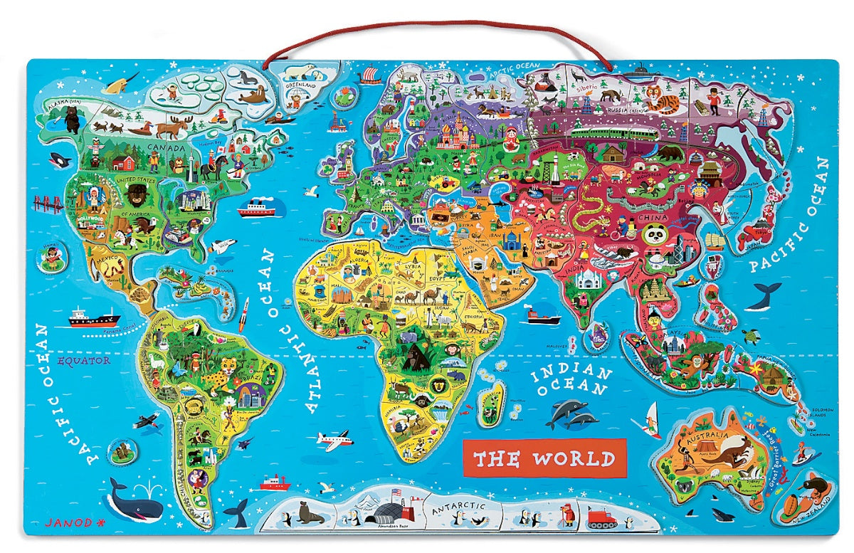 Order Janod Magnetic World Map Online Janod Toys Spotty Giraffe