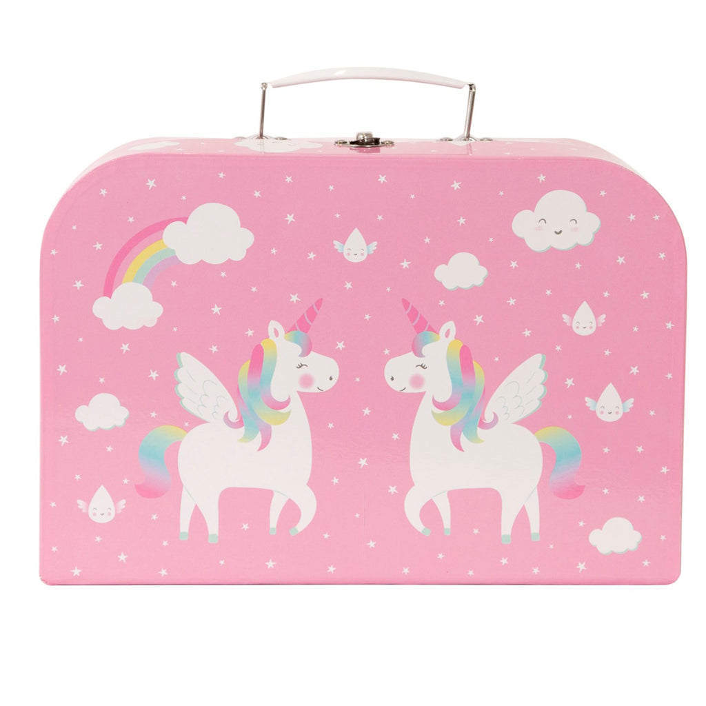 Sass and Belle Unicorn Tin Tea Set in a Suitcase