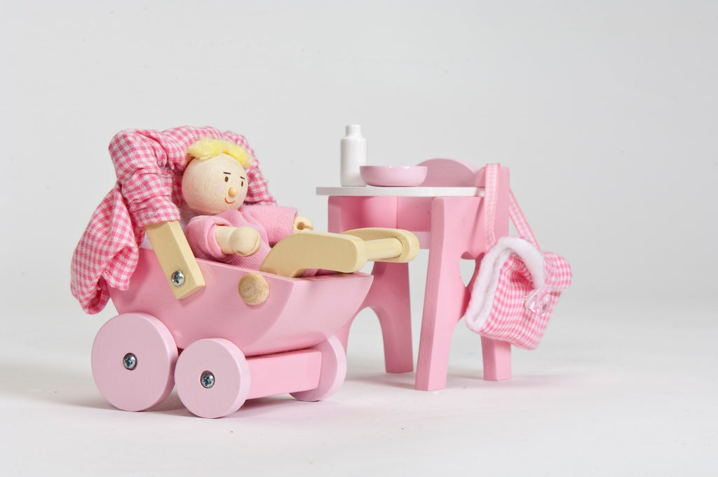 Le Toy Van Nursery Set with Baby Doll