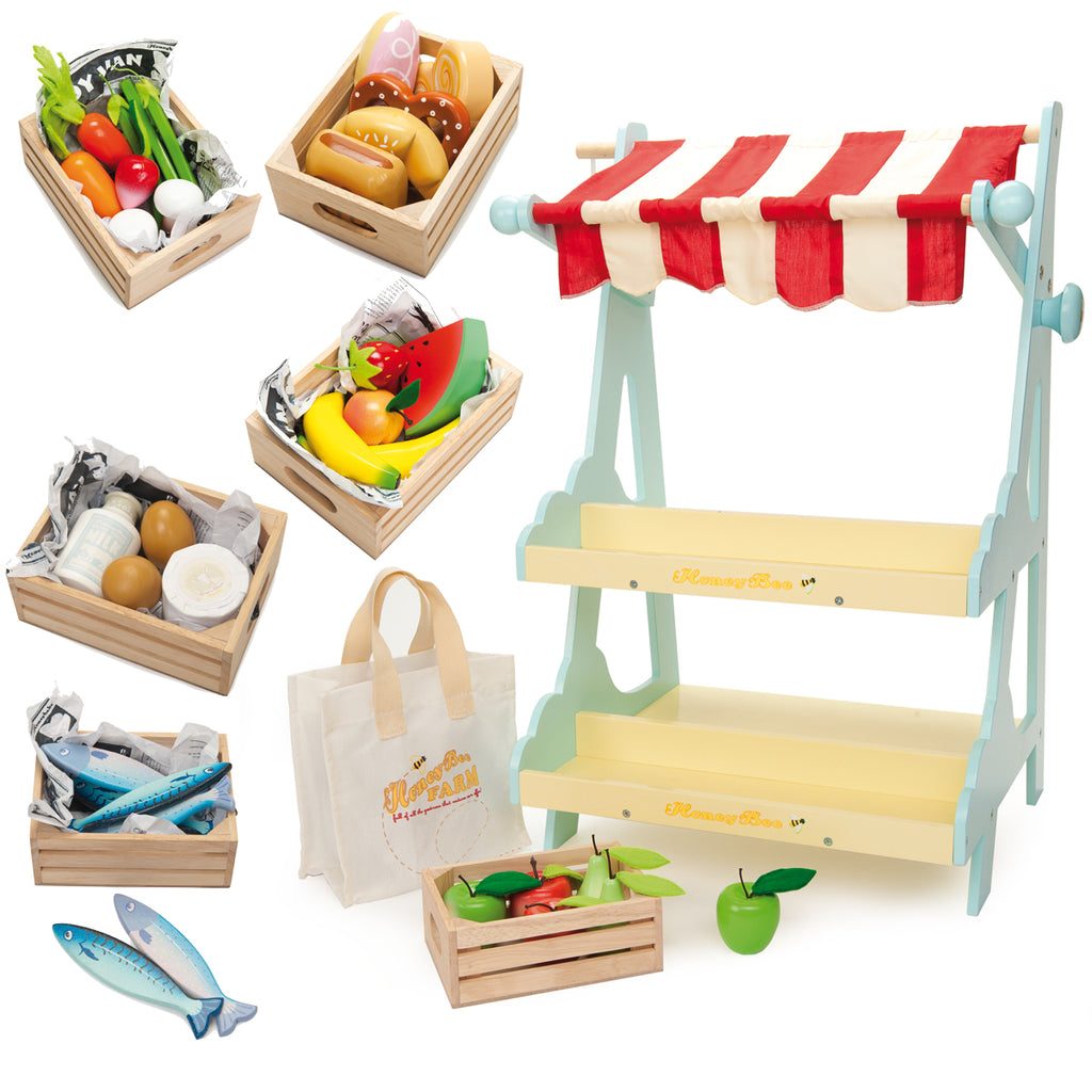 Le Toy Van Honeybee Market Stall Bundle