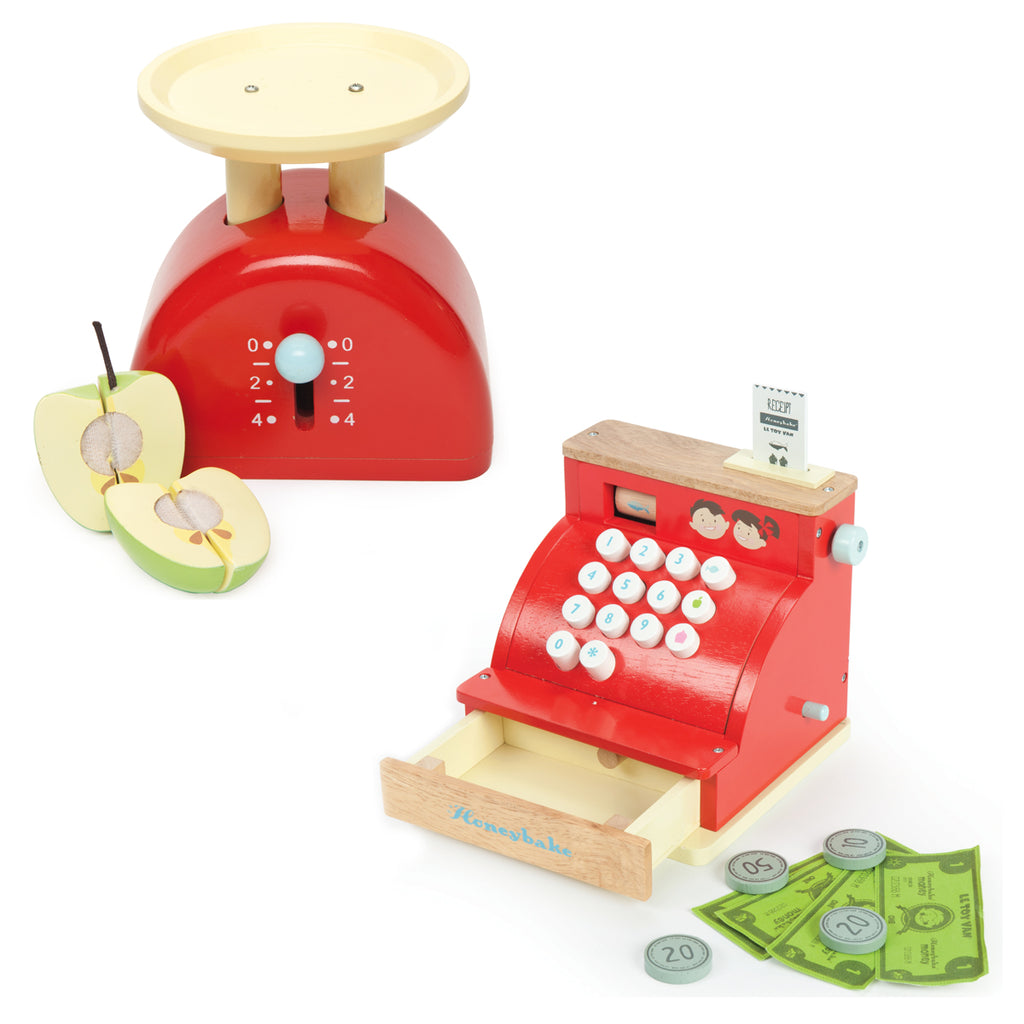 Le Toy Van Honeybake Cash Register and Weighing Scales Bundle