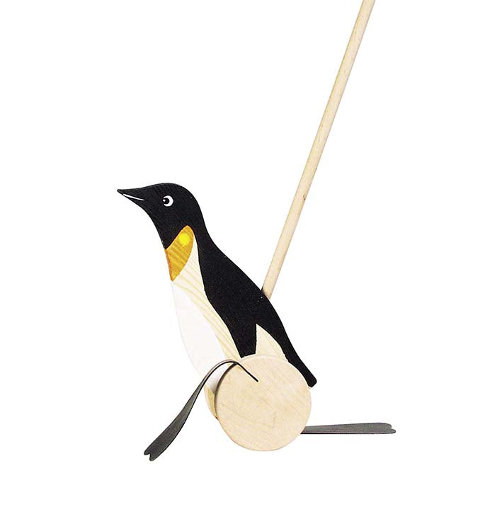 Goki Wooden Push-Along Penguin