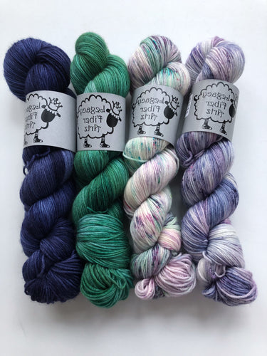 Succulent/Lavender Fields 4 Color Shawl Kit