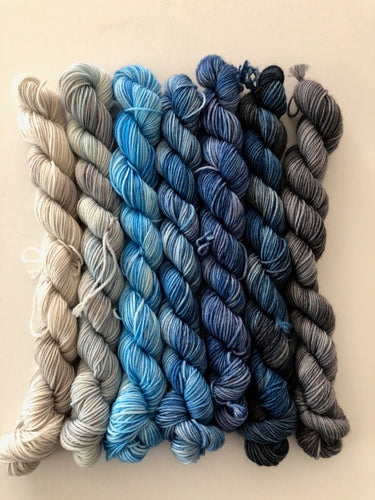 Snuggle Down Cowl Minis Only (Blues)