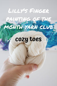 PRE-ORDER: Lilly's Finger Painting of the Month Yarn Club