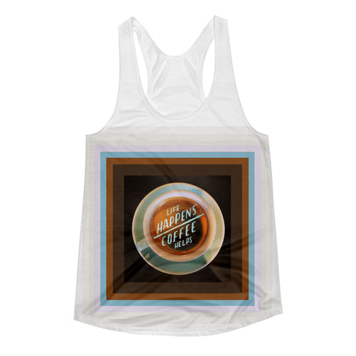 Coffee Helps - Women's Racerback Tank