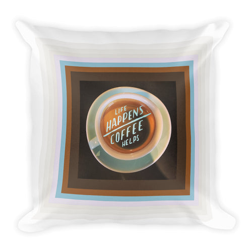 Coffee helps - Square Pillow