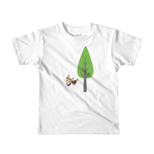 PeePee Dog - Short sleeve kids t-shirt (2yrs-6yrs)