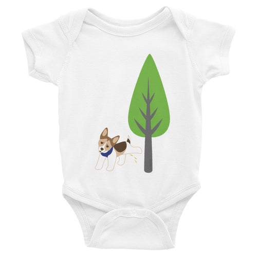 PeePee Dog Infant Bodysuit