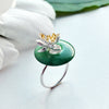 Lotus on Jade Stone Ring