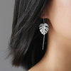 Monstera Leaves Dangle Earrings