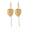Monstera Leaves Dangle Earrings - Rozzita.com
