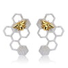 Honeycomb Bee Earrings - Rozzita.com