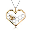 The Honeycomb Bee Pendant