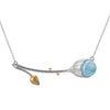 Aquamarine Lotus Necklace - Rozzita.com