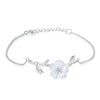 The Crystal Flower Bracelet - Rozzita.com