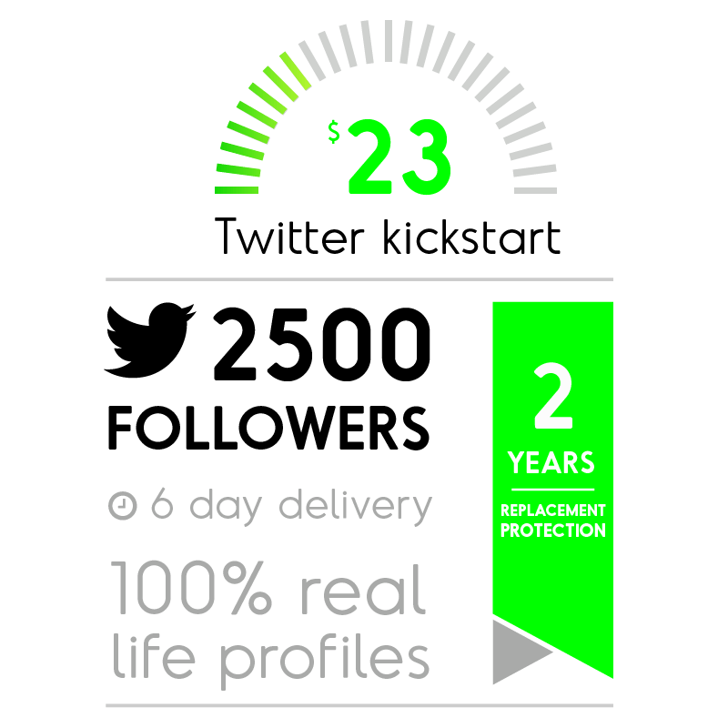 2500 Real Twitter Followers