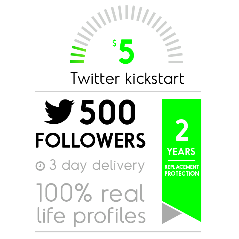 500 Real Twitter Followers