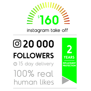 20 000 Real Instagram Followers