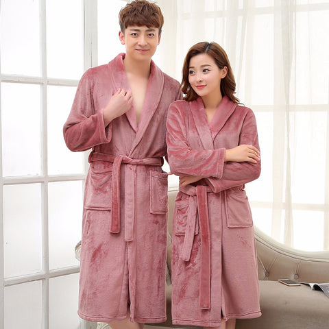 Ladies and Men Long Bathrobe Women Silk Flannel Kimono Bath Robe Bridal  Wedding Bridesmaid Robes Dressing ee082ea4d